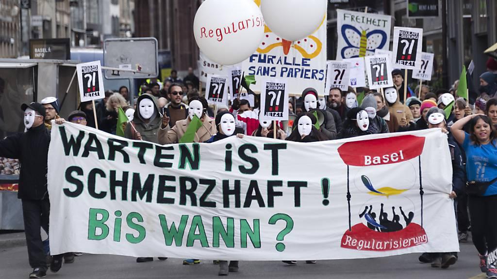 Demonstration von Sans Papiers in Basel