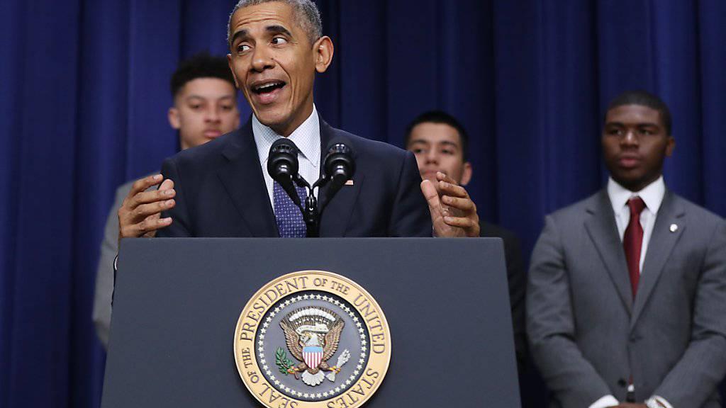 Will die Hackerangriffe nicht auf den USA sitzen lassen: Der scheidende Präsident Barack Obama kündet Vergeltung an.