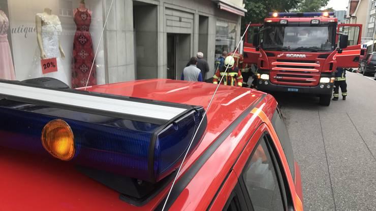 Feuerwehreinsatz an der Bettlachstrasse