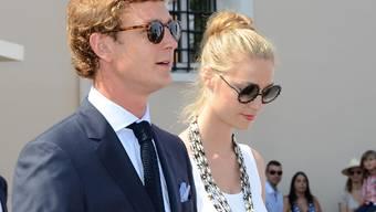 Pierre Casiraghi mit seiner Beatrice während einer Feier zum zehnjährigen Thronjubiläum des monegassischen Fürsten Albert II (Archiv)