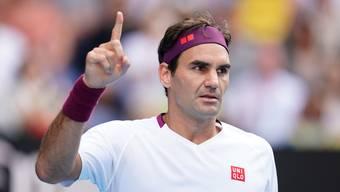 Roger Federer gegen Tennys Sandgren im Viertelfinal an den Australian Open 2020