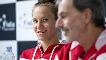 Keine Überraschungen: Viktorija Golubic macht für das Fed-Cup-Team von Captain Heinz Günthardt am Samstag den Auftakt gegen Madison Keys