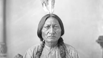 Sioux-Medizinmann Sitting Bull (1831 bis 1890) galt als blitzgescheiter Kriegsherr.