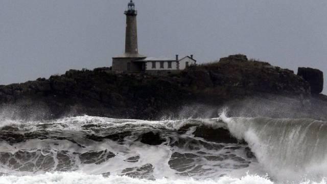 Hohe Wellen in Nordspanien
