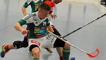 Kein Durchkommen für den Gegner - Tatu Väänänen und seine Teamkollegen liessen Thun auflaufen.