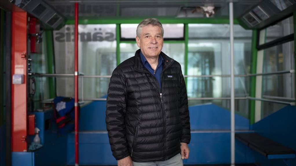 Bruno Vattioni, Chef der Säntisschwebebahn, nimmt bald den Hut.