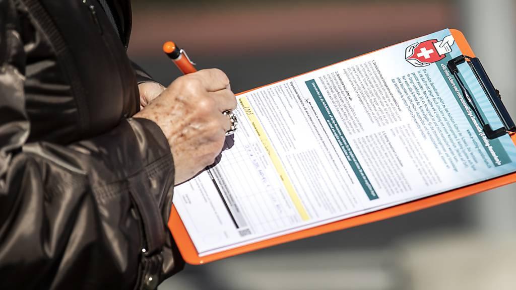 Seit Montag können Komitees wieder Unterschriften sammeln