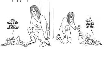 Moses reloaded: In Anna Sommers Comic findet eine Frau ein Baby. (Ausschnitt)