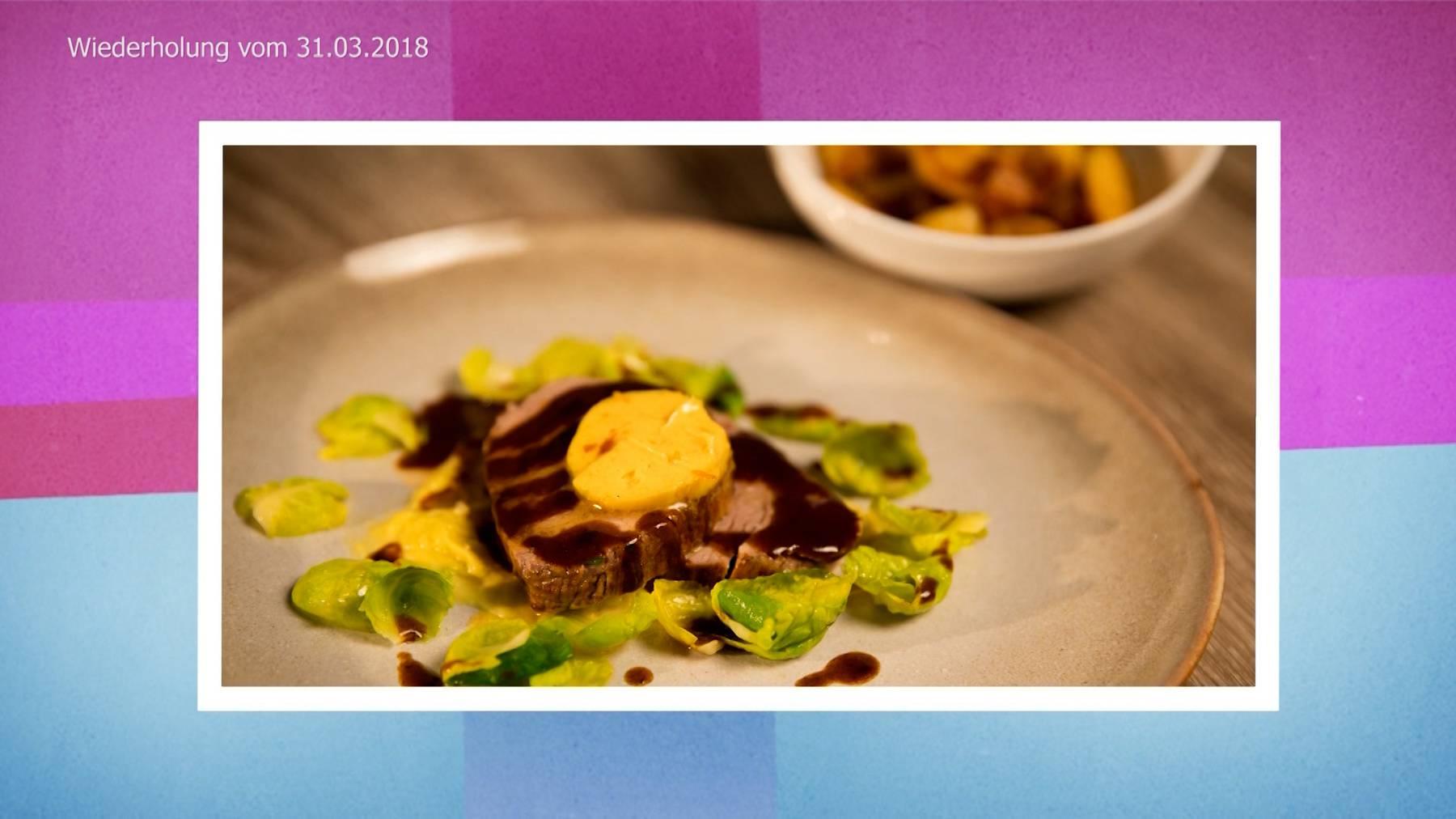 Chateaubriand mit Curry-Orangenbutter