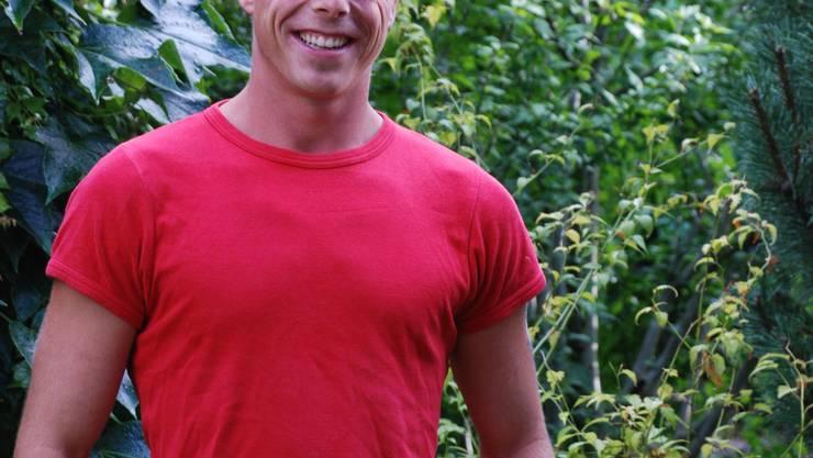Das Lachen ist des Bauern Lust: Heubuuch-Kandidat Andreas Wyss. (ju)