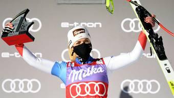 Die Erleichterung ist riesig: Lara Gut-Behrami nach ihrem ersten Super-G-Sieg nach knapp drei Jahren.