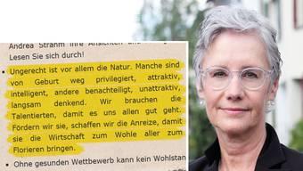 Seit 2014 Basler Parteipräsidentin: Andrea Strahm. Ihre heiklen Aussagen sorgen nun für Furore.