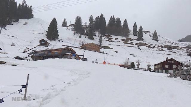 Regen statt Schnee in den Bergen