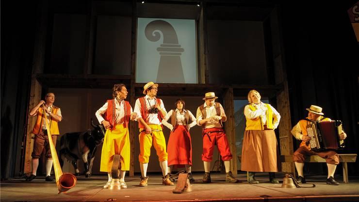 Das Ensemble des Charivari steckt mitten in den Proben.
