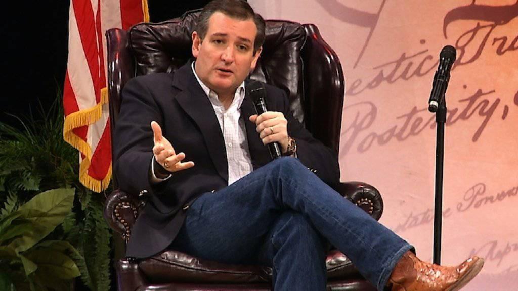 Der erzkonservative Senator aus Texas, Ted Cruz, bei einer Wahlkampfveranstaltung in South Carolina. Er soll laut einer neuen Umfrage Donald Trump in der landesweiten Wählergunst überholt haben.