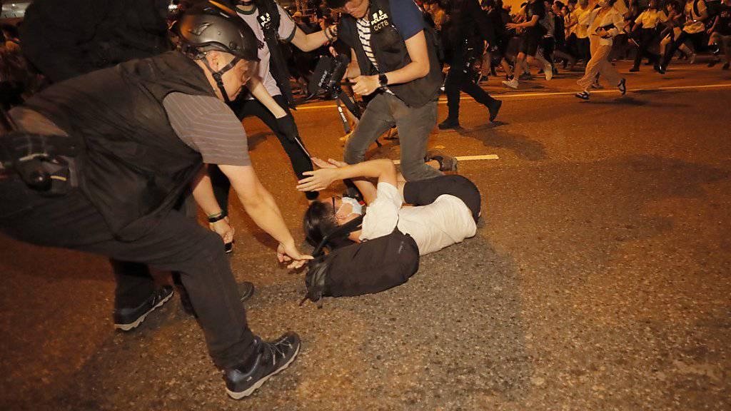 In Hongkong kam es zu gewalttätigen Zusammenstössen zwischen Demonstranten und der Polizei. Es gab mehrere Verletzte und Festnahmen.