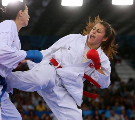 Zum zweiten Mal Karate-Europameisterin: Elena Quirici.