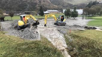 Die Schäden am Trassee der Furka-Dampfbahn