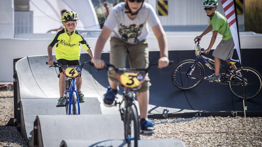 Auch beim SlowUp 2016 gab es zur Freude vieler eine BMX-Piste.