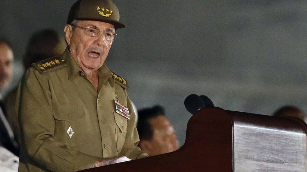 Raúl Castro tritt im April als kubanischer Staatschef ab. (Archiv)