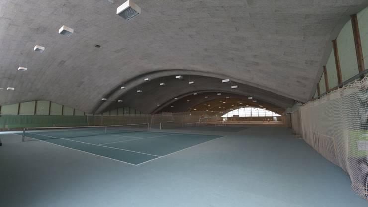 Die selbsttragenden Gewölbe der Tennishalle faszinieren noch heute.