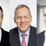 Die Spitzenverdiener: Daniel Schmutz, Ruedi Bodenman und Andreas Schönenberger.