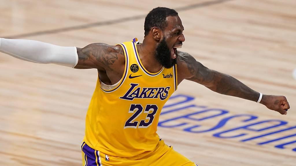 LeBron James lässt den Emotionen freien Lauf.