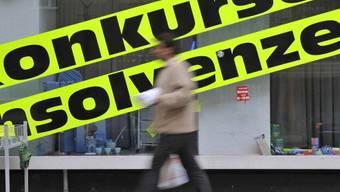 Im ersten Halbjahr meldeten in der Schweiz 2327 Firmen Konkurs an.