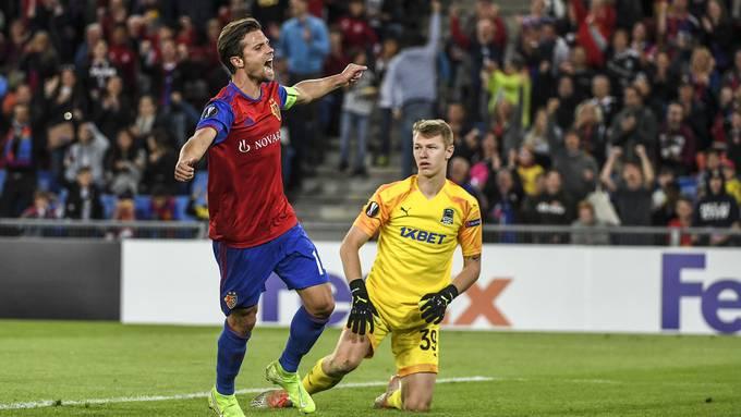 Valentin Stocker erzielte bei der 5:0-Gala zwar kein Tor, Grund zur Freude hatte er dennoch genug.