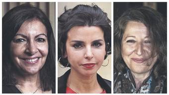 Pariser Bürgermeisterin Anne Hidalgo und ihre Gegnerinnen Rachida Dati und Agnès Buzyn (von links)
