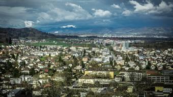 Blick vom Schloss Lenzburg in Richtung Hunzenschwil.