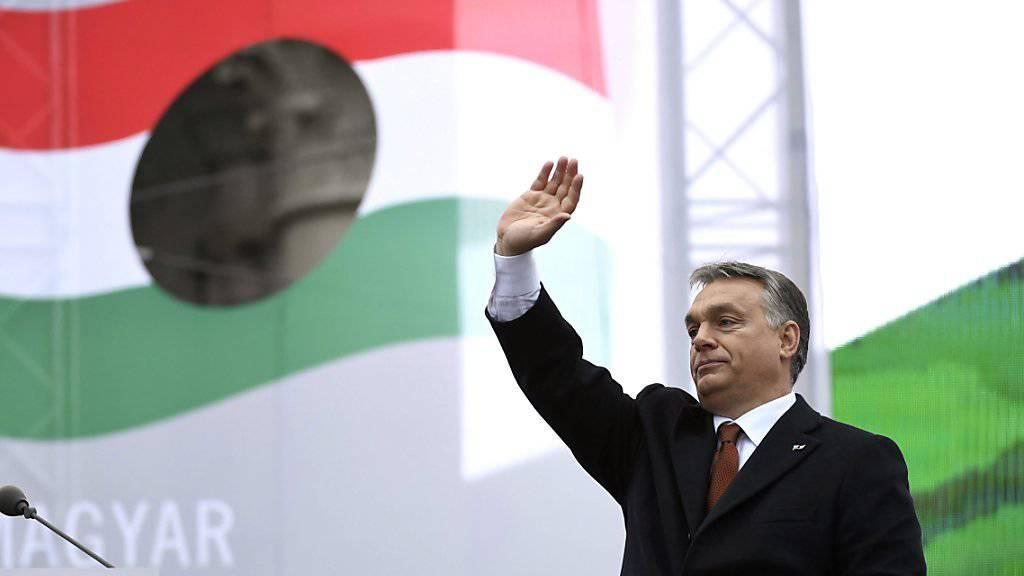 Seine Politik stellt laut Menschenrechtlern die EU als Wertegemeinschaft in Frage: Ungarns Premier Viktor Orban. (Archivbild)