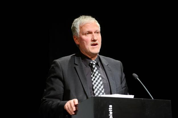 Regierungsrat Peter Gomm sprach zu den Anwesenden