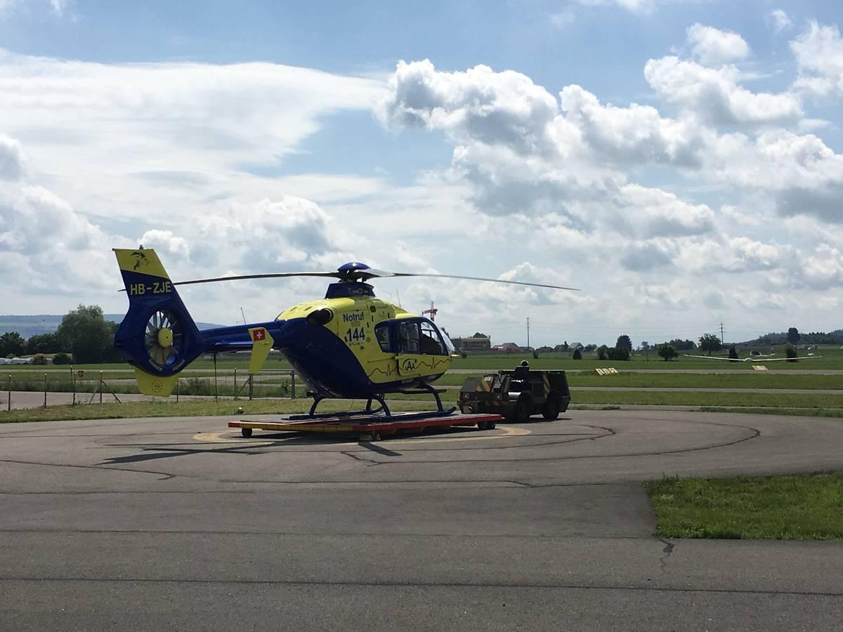 Rettungsbasis der Alpine Air Ambulance (© Radio Argovia)