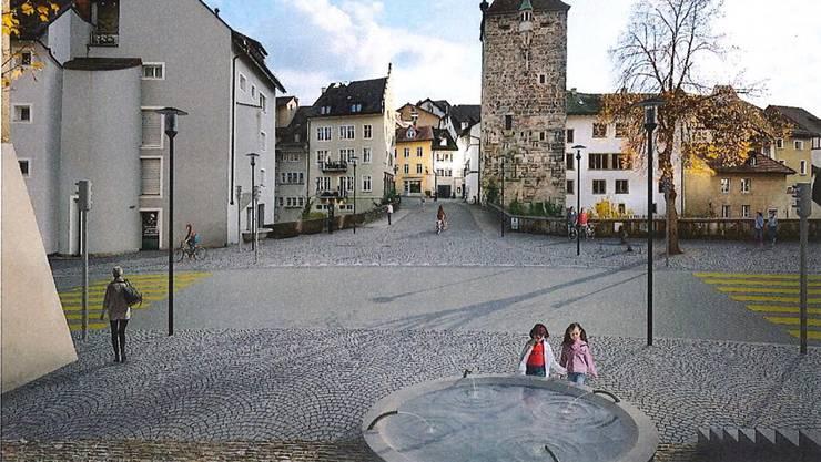 Wie auf dieser Visualisierung soll sich der neu gestaltete Bereich Vorstadt dereinst präsentieren.