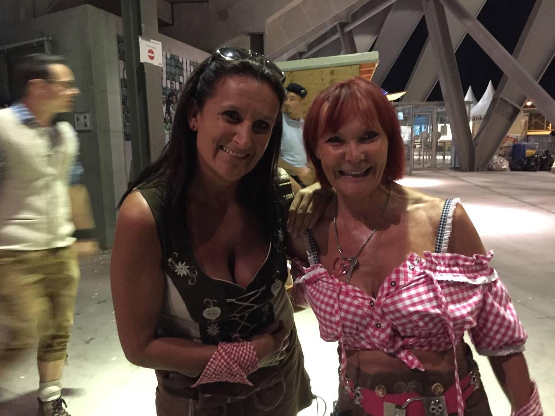 Daniela Widmer (rechts) hatte schon Mitleid mit Gabalier. (Bild: FM1Today)