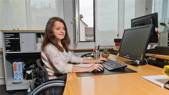 Lea Gauch aus Böbikon ist die erste Lernende der Gemeinde Döttingen mit einem Handicap.