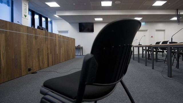 Blick in den Gerichtssaal des Waadtländer Appellationsgerichtes (Archiv)