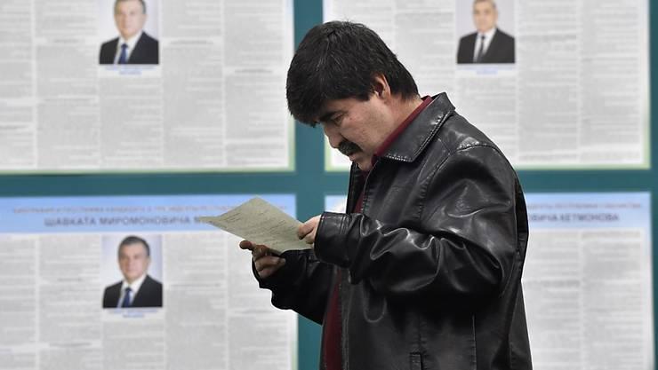 Nach dem Tod von Langzeitherrscher Karimow haben Usbekinnen und Usbeken ihren neuen Präsidenten gewählt.