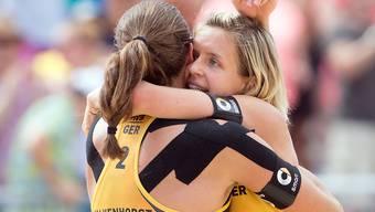 Gewannen im WM-Final von Wien den letzten fehlenden Titel an Grossanlässen: die Deutschen Kira Walkenhorst (links) und Laura Ludwig
