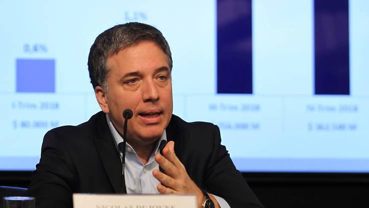 Tritt inmitten massiver wirtschaftlicher Turbulenzen zurück: Argentiniens Finanzminister Nicolás Dujovn. (Archivbild)