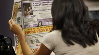 In den USA beantragen so wenige Menschen Arbeitslosenhilfe wie seit zwei Jahren nicht mehr (Symbolbild, Archiv)