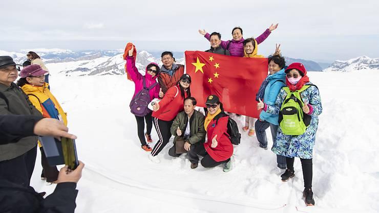 Letztes Jahr haben die Schweizer Hotels nicht zuletzt wegen der steigenden Zahl chinesischer Touristen noch mehr Übernachtungen verzeichnen können. Wegen des Coronavirus dürfte die Hotelstatistik im laufenden Jahr nicht mehr so rosig ausfallen. (Archivbild)