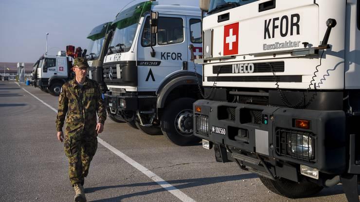 Schweizer Soldaten der Kfor sorgen im Kosovo für Sicherheit.
