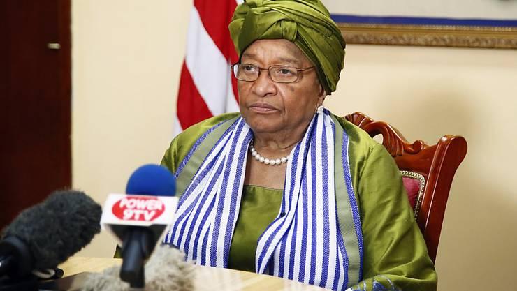 Liberias Präsidentin Ellen Johnson-Sirleaf vor der Wahl bei ihrer Rede zur Nation.