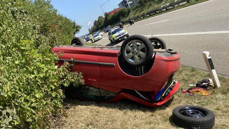 Auf der A3 verlor eine Autofahrerin die Kontrolle über sein Fahrzeug.