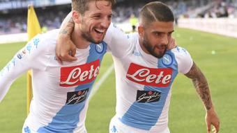 Napolis Torschützen gegen Cagliari: Lorenzo Insigne (rechts) und Dries Mertens