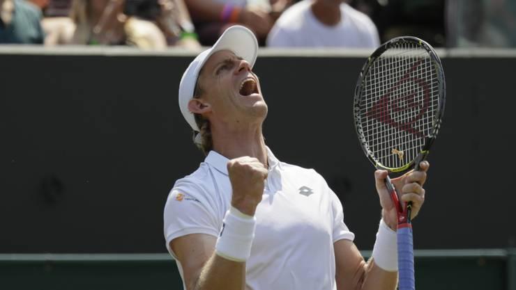 Erstmals in einem Wimbledon-Viertelfinal: der Südafrikaner Kevin Anderson
