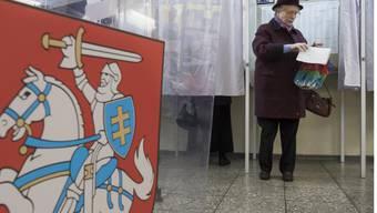 Litauen wählt: 2,5 Millionen Stimmberechtigte befinden über die künftige Zusammensetzung der Volksvertretung. (Archivbild)
