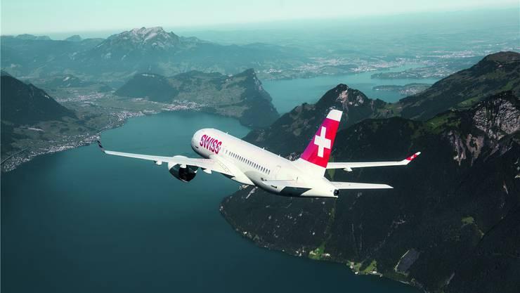 Die Aussicht stimmt: Flüge zwischen Zürich und Genf sind bei Bundesangestellten erstaunlich beliebt. SWISS